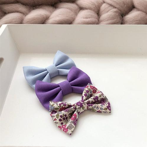 Purple Fields Hair Bows