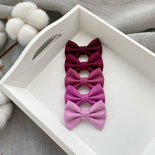 Bordeaux Cotton Bows