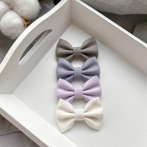 Lilac Linen Bows