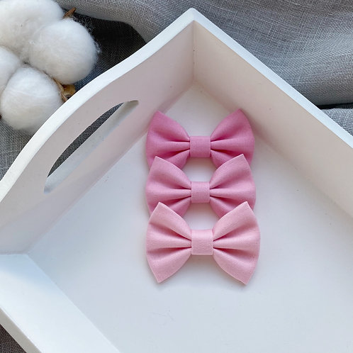Pink Cotton Bows