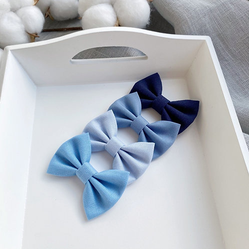 Sky Blue Cotton Bows