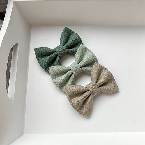 Forest Linen Bows