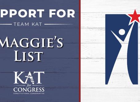 Maggie's List Endorses Kat Cammack