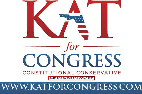 Kat for Congress Car Magnet