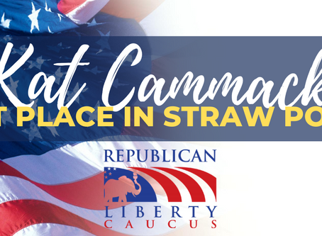 Kat Cammack takes first place in FL-03 straw poll conducted by the Republic Liberty Caucus