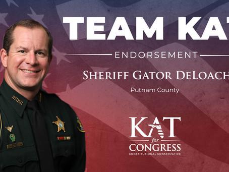 Sheriff Gator DeLoach Endorses Kat Cammack for Congress