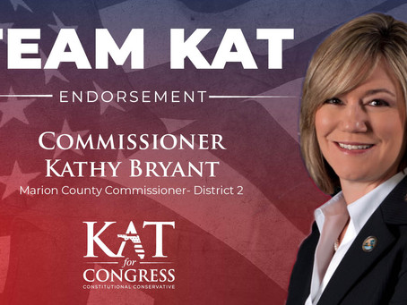 Marion County Commissioner Kathy Bryant Endorses Kat Cammack for Congress