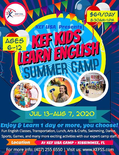 2020E Summer Kids Fest Flyer Template -