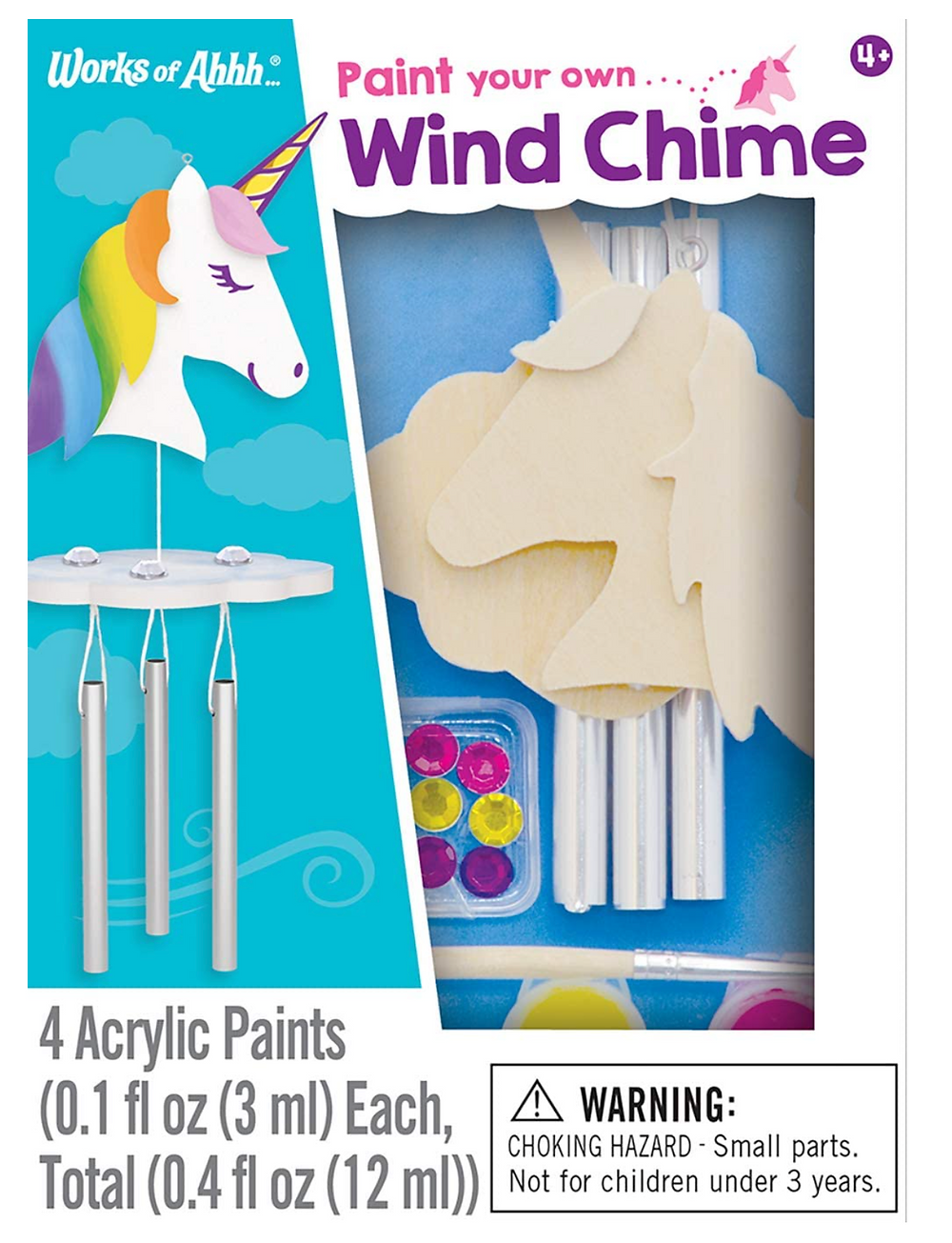 Paint your own unicorn wind chime kit in it's box