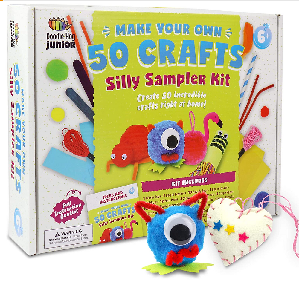 arts and crafts supply box for kids 50 craft projects inside