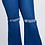 Thumbnail: Curvy Bell Bottom Distressed Jeans