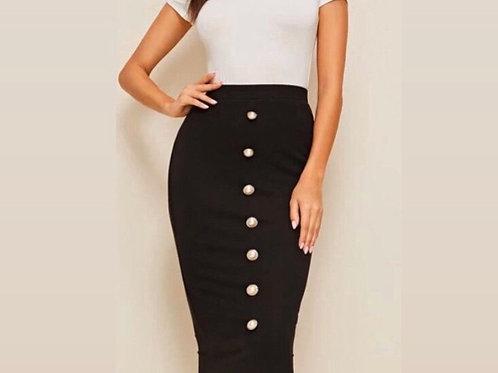 Black Pearl Pencil Skirt
