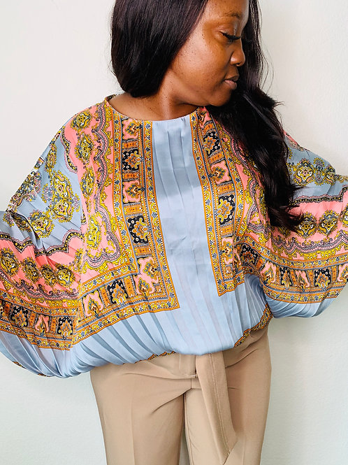 One Size fit flowy printed blouse