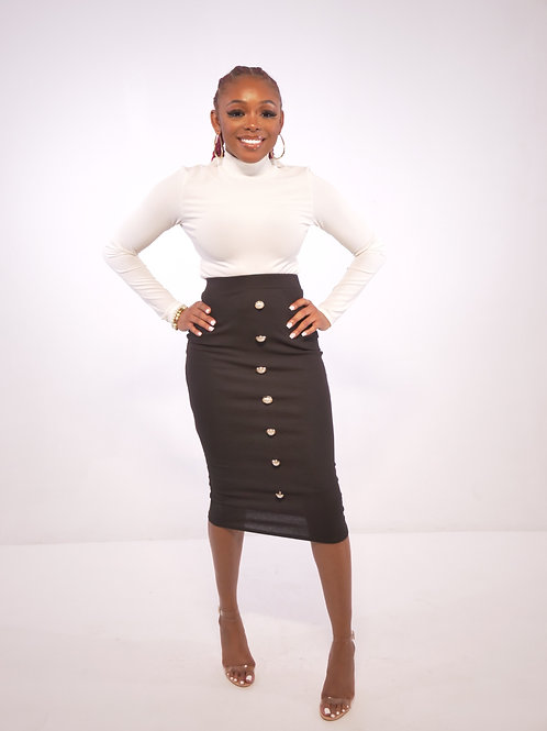 Black Pearl Pencil Skirt