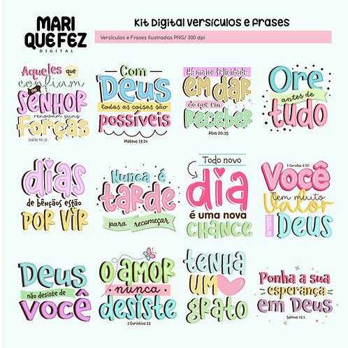 Kit Digital Versículos e Frases I