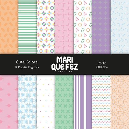 Cute Colors Digital Paper