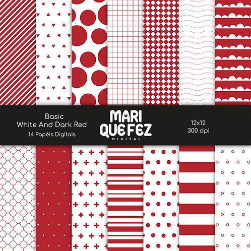 Basic - White And RedDigital Paper