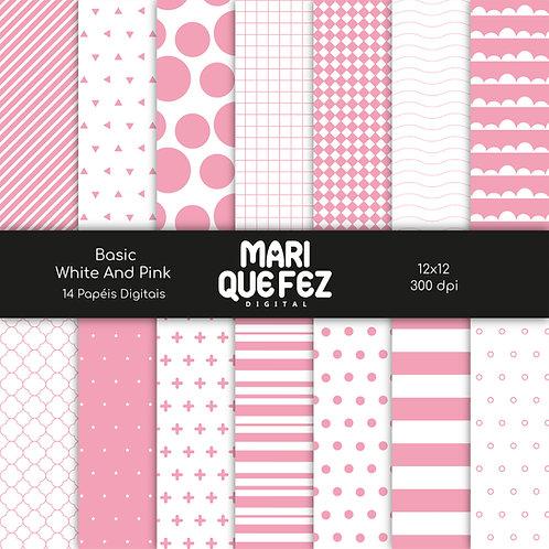 Basic - White And PinkDigital Paper