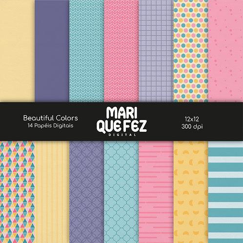 Beautiful Colors Digital Paper