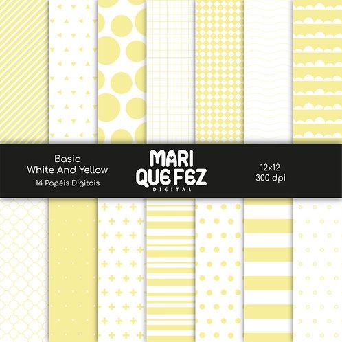 Basic - White And Yellow Digital Paper