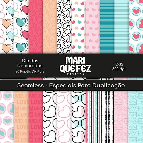 Papéis Digitais Dia Dos Namorados (Avulso do Kit Digital Dia Dos Namorados )