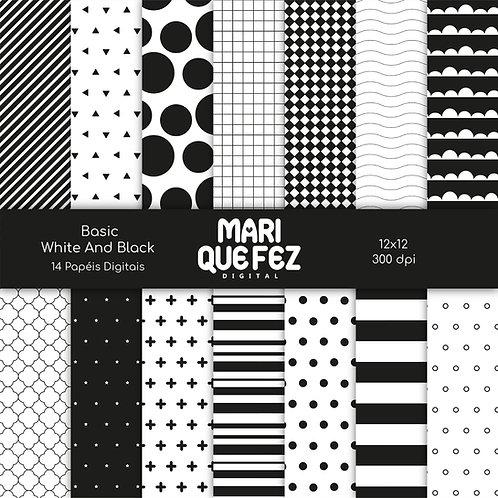 Basic - White And Black Digital Paper