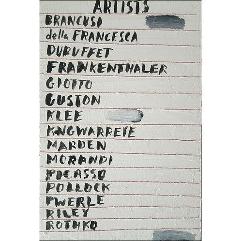Artist List (2018)