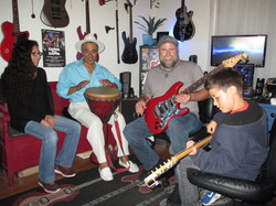 Guitar and Bass Lesson with Johnny Lightfoot Lightfoot Productions Family fun