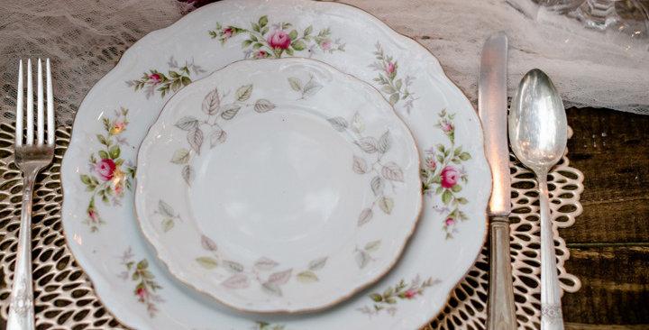 Mismatched Vintage Plates