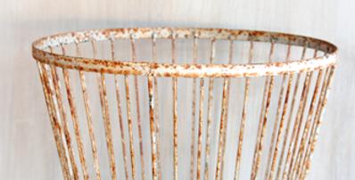 Rusty Large Egg Baskets