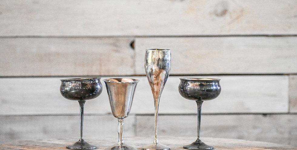 Mismatched Silver Goblets