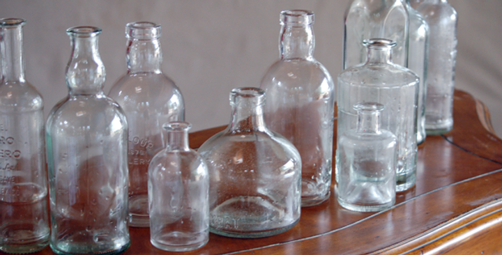 Clear Apothecary Bottles