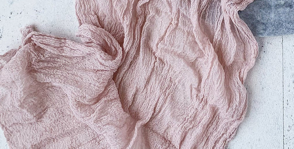 Blush Pink Cheesecloth Table Runner
