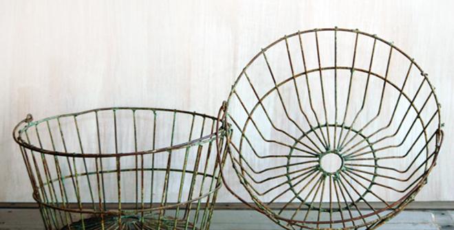 Rusty Medium Egg Baskets