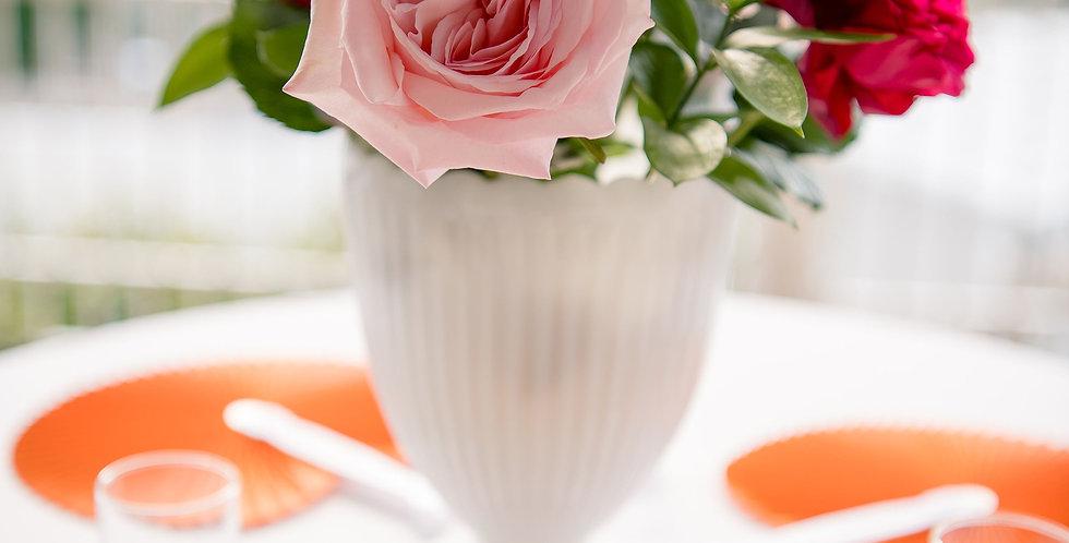 Milk Glass Large Vases