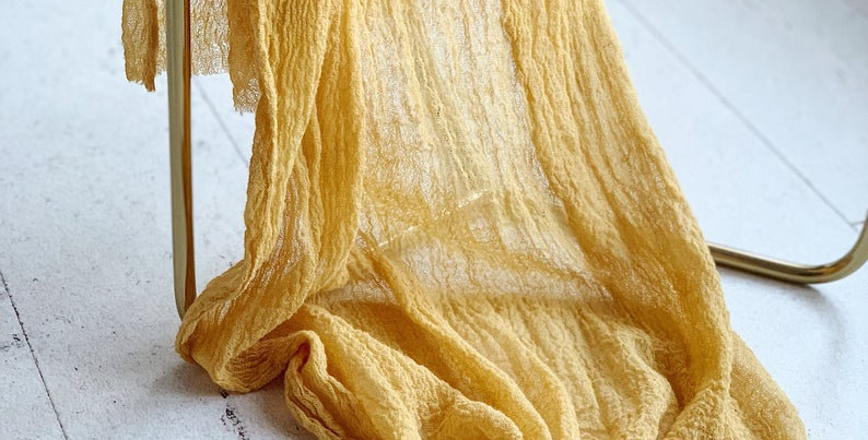 Mustard Cheesecloth Table Runner