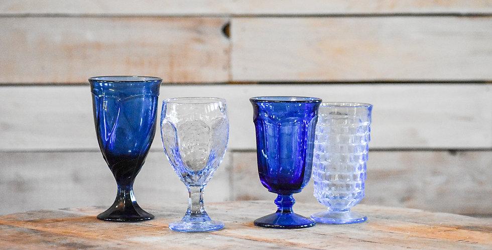 Blue Mismatched Goblets