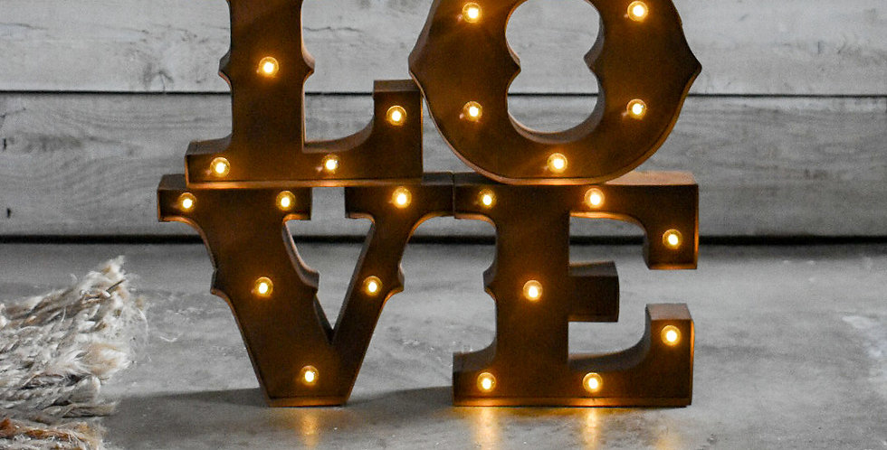 Lillien LOVE Marquee Sign