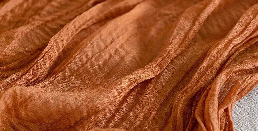 Terracotta Cheesecloth Table Runner