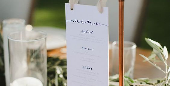 Hubbard Table Sign Holders