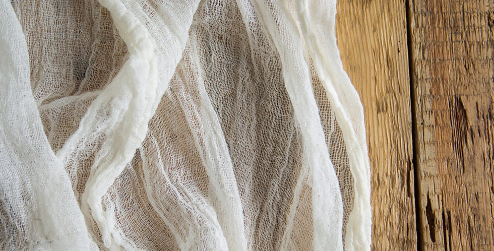 Ivory Cheesecloth Table Runner