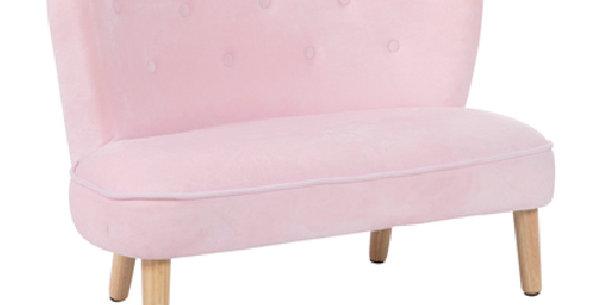 Beatrix Pink Kids Settee