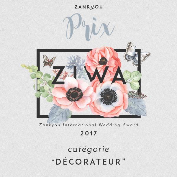 Élue meilleure décoratrice de mariages 2017 !