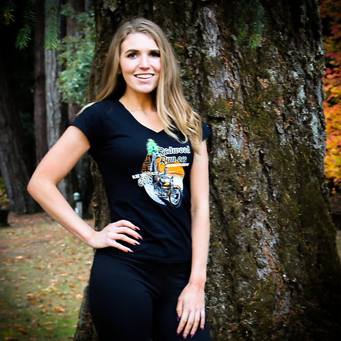 Women's Official Redwood Run - Blue Lake Rally V-neck T-shirt