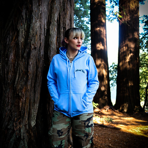 Women's Official Redwood Run - Blue Lake Rally Zip Up Hoodie