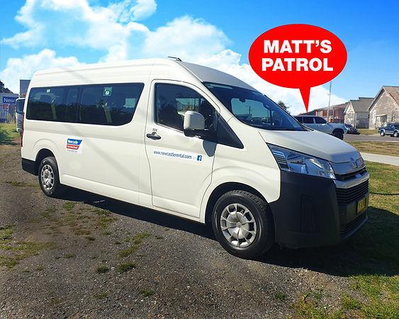 12 seat Mini Bus hire at Newcastle Car & Truck Rental