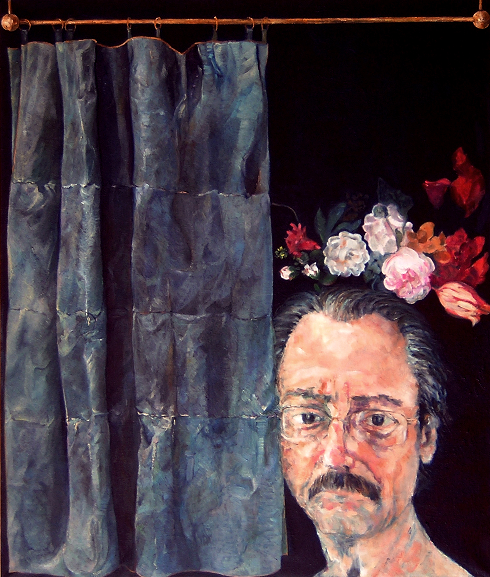 Self Portrait with flowers - 2009