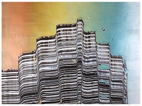 Original Rainbow Painting Acrylic on Canvas