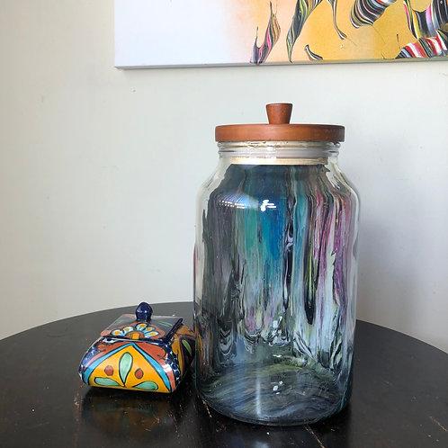 Large Hand Painted Food Jar Clean 2020