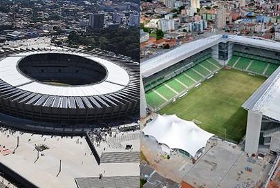Principais estádios mineiros.